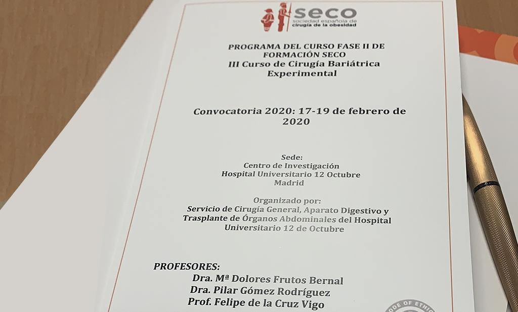 3ª Edición del Curso Fase II de Cirugía Experimental celebrada en el Hospital 12 de Octubre de Madrid