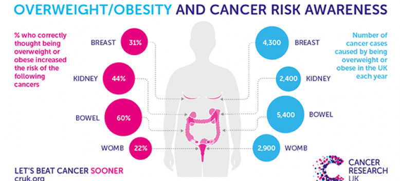 Excess body weight responsible for four percent of cancers