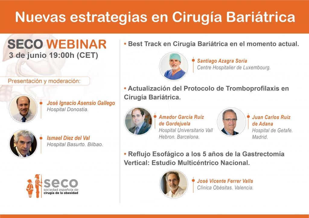 Webinar - Nuevas estrategias en Cirugía Bariátrica